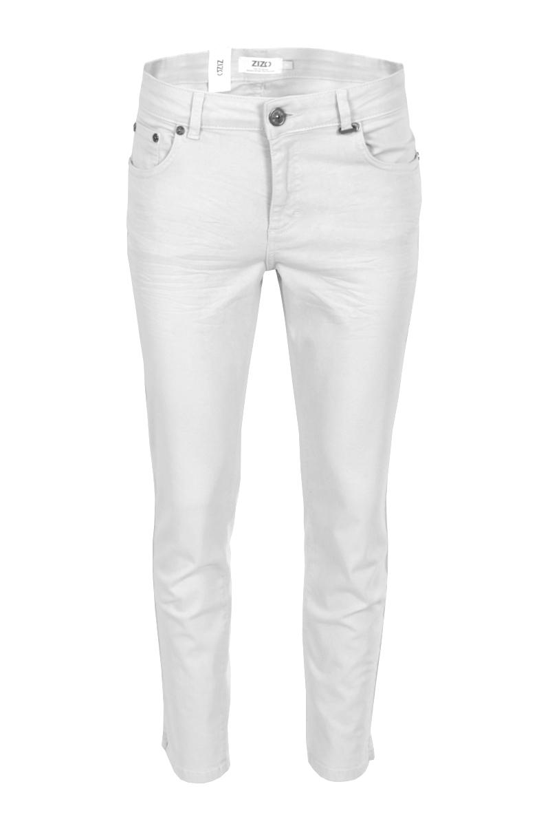 Color denim 5 pocket broek  met een binnenbeen lente van 70 cm