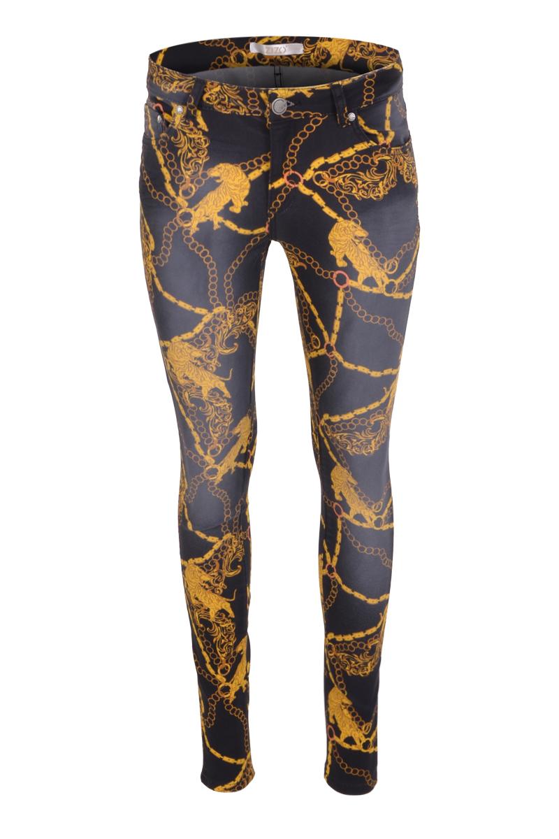 Extra skinny 5 pocket broek in diverse prints