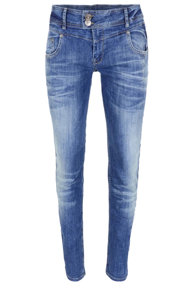 Skinny en baggy denim broek. broek is verkrijgbaar in 2 wassingen en heeft een binnen beenlengte van 82 cm