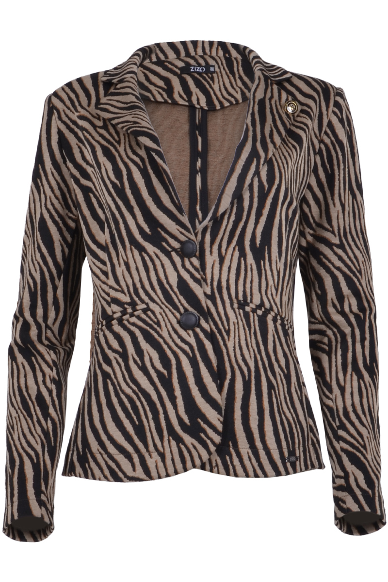 Kort 2 knoops blazer print   *Maud Sparkle wijkt af van Marlin Sparkle (broek)