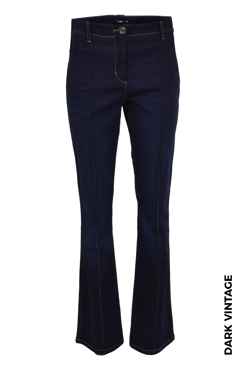 Flair broek in een super stretch denim