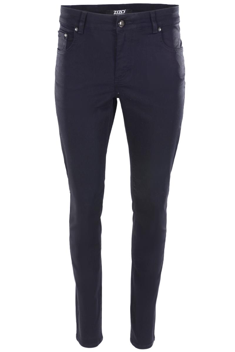 Basic Skinny 5 pocket broek in een soft satijn stretch poly viscose cotton kwaliteit. Binnenbeen lengte 82cm , hoge front- en backrise