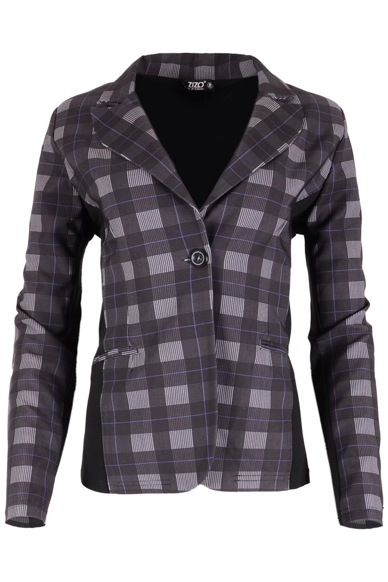 Prachtige blazer met geweven minimalistische print op de voorkant. Deze blazer is gemaakt van een stretchy materiaalmix voor het beste draagcomfort en is uitgevoerd met paspelzakken.