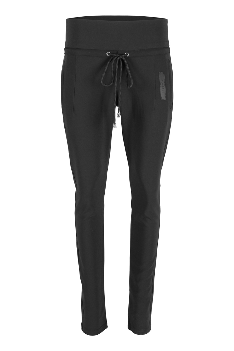 Extra skinny broek met dubbele tailleband
