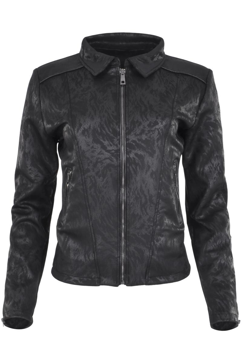 Coated model Jacket Getailleerde pasvorm met rits