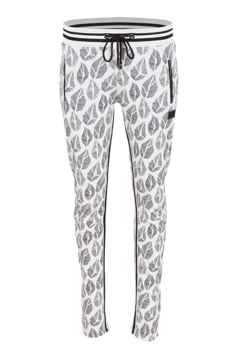 Fancy broek in een mooie jacquard stof en tricot tailleband