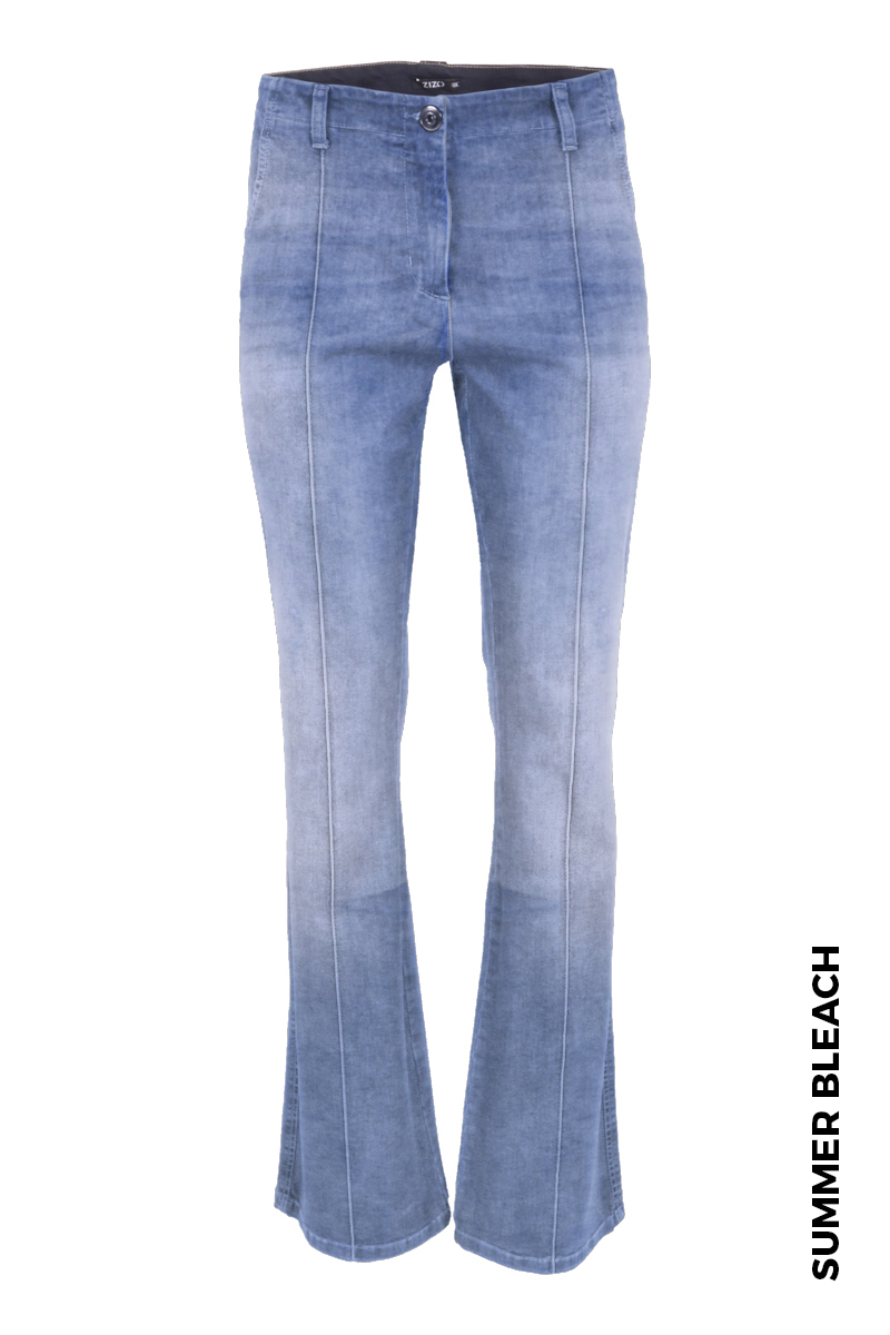 Flair broek in een power lycra denim