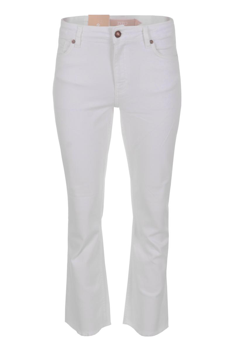 Broek Venosa is een stoere denim broek met hoge taille. De broek is een 5-pocket model met steeksakken op het achterpand en afgeronde zakken aan de voorzijde. Venosa is te sluiten middels knoop- en ritssluiting. Onderaan de pijpen heeft broek Venosa een stoere gerafelde zoom. De broek valt normaal qua maat en is te verkrijgen in het Stone Bleached, Dirty Vintage, Sky Blue en Offwhite.   <ul> <li>Denim broek</li> <li>Lengte 28</li> <li>Hoge taille</li> <li>5-pocket model</li> <li>Steekzakken achterpand</li> <li>Afgeronde steekzakken voorpand</li> <li>Knoop- en ritssluiting</li> <li>Tailleband met ceintuurlussen</li> <li>Detail ritjes aan zijkant</li> <li>Iets uitlopend aan onderzijde</li> <li>Gerafelde zoom</li> <li>Denim Lycra</li> <li>Model Venosa</li> <li>Valt normaal qua maat</li> <li>Te verkrijgen in het Stone Bleached, Dirty Vintage, Sky Blue en Offwhite</li> </ul>