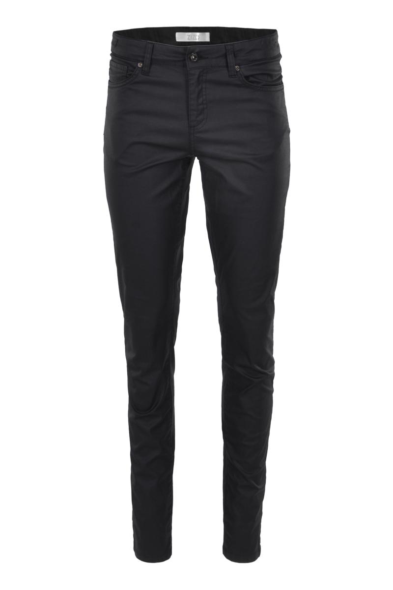 5 pocket skinny coated broek