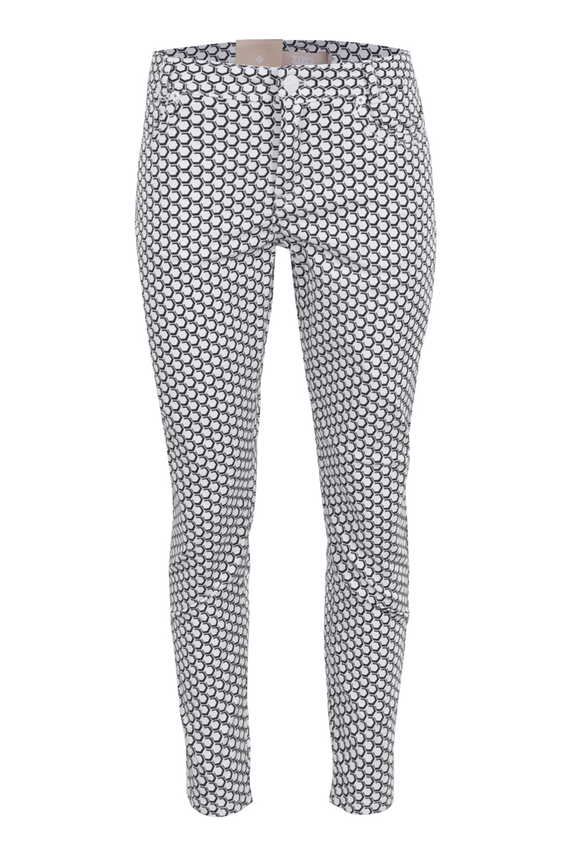 Extra skinny 5 pocket broek in diverse printjes