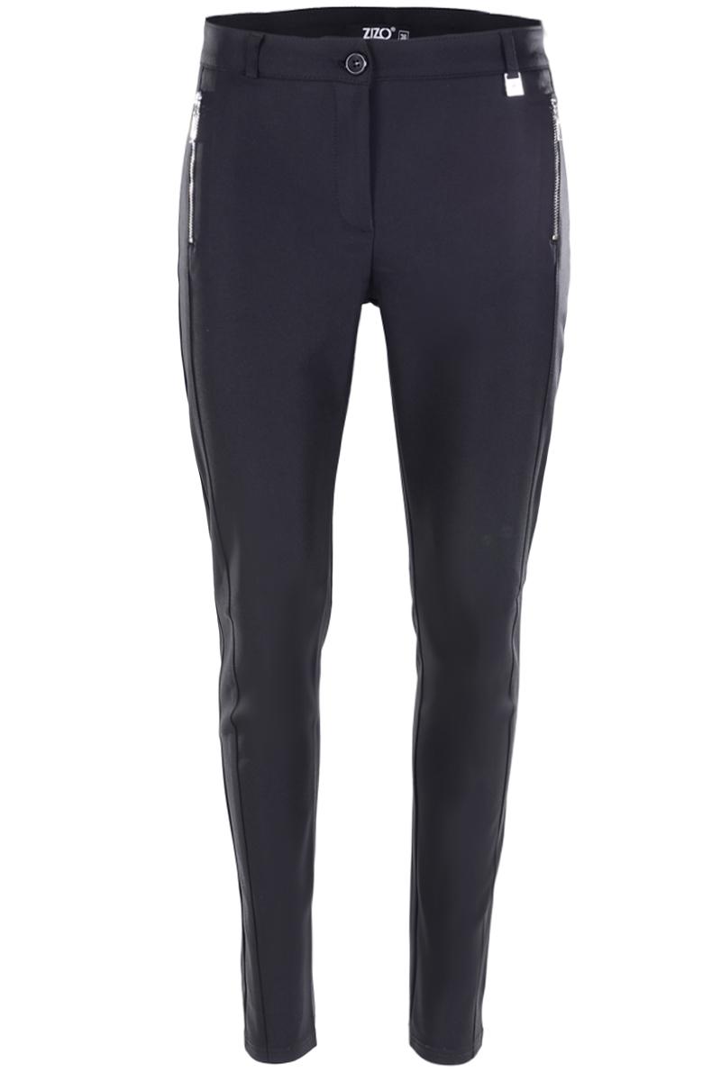 Skinny broek voor een trendbewuste uitstraling. De voordelen van een chique polyamide kwaliteit zijn het hoge draagcomfort. Perfecte pasvorm met fake ritszakken voor. Deelnaad voor met een modellerende tailleband.