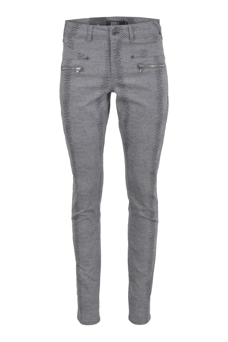 5 pocket skinny print broek