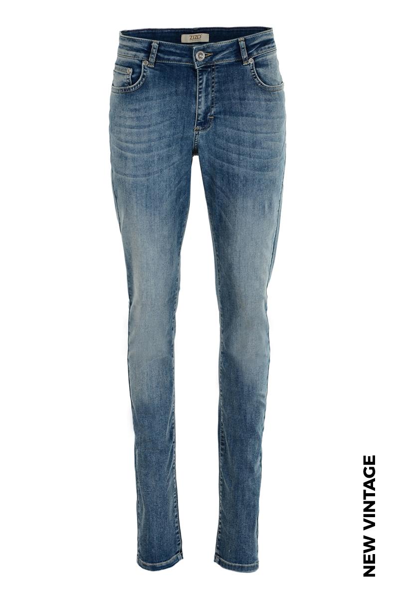 Extra skinny jeans in diverse wassingen. In 5-pocket-model met modellerende tailleband, riemlusjes en zadelpas. Binnenbeen lengte 82 cm.  Hoge front - en backrise.